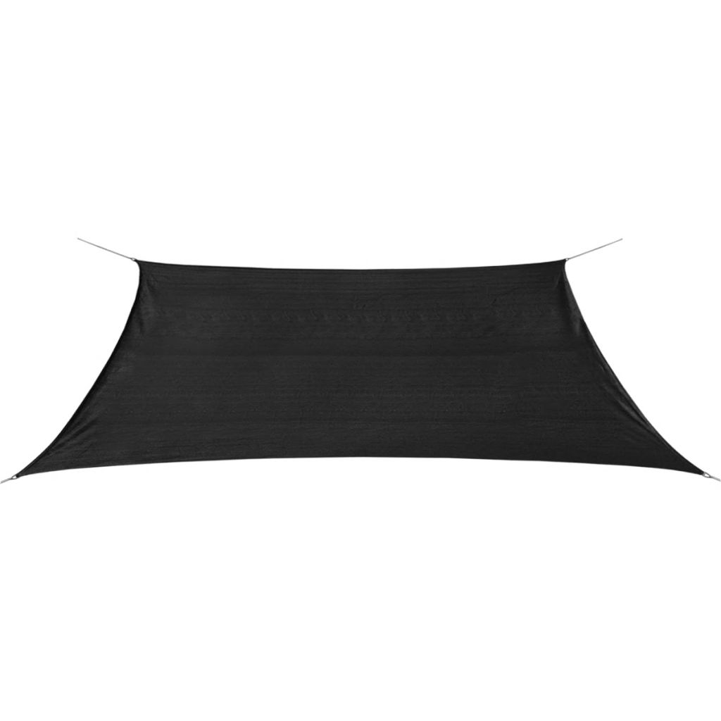 Sunshade Sail HDPE Rectangular 2x4 m Anthracite