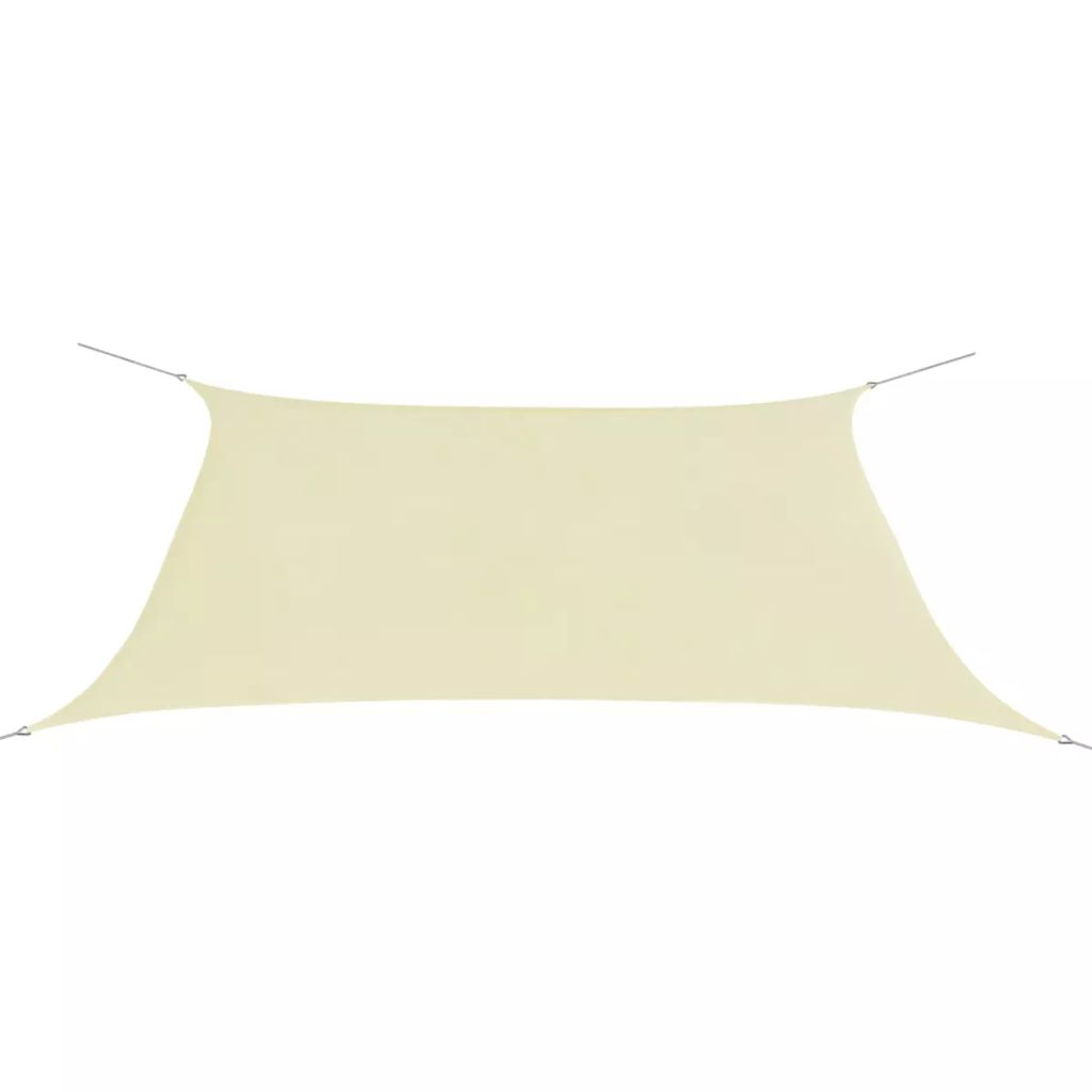 Sunshade Sail Oxford Fabric Rectangular 2x4 m Cream