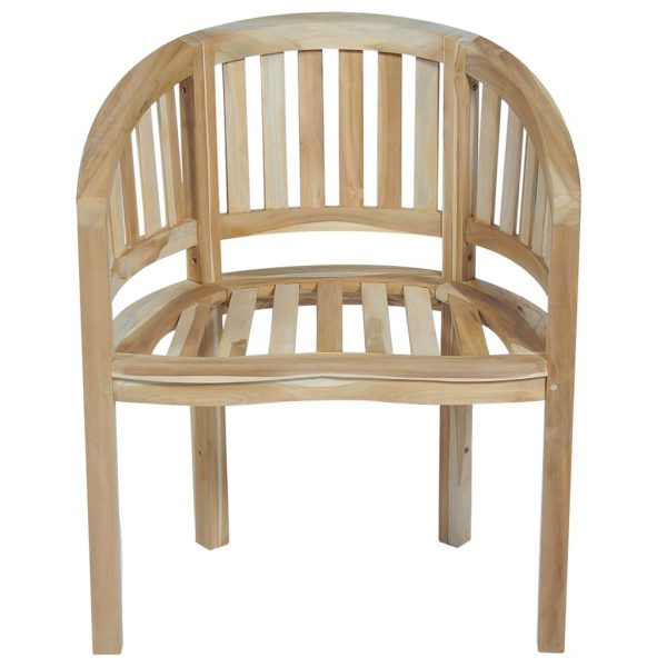 Banana Chairs 2 pcs Solid Teak Wood 4