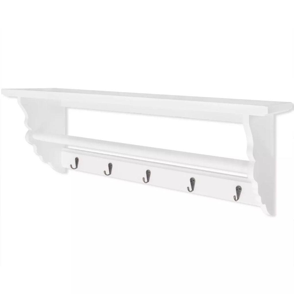 Coat Rack MDF White Baroque Style 1