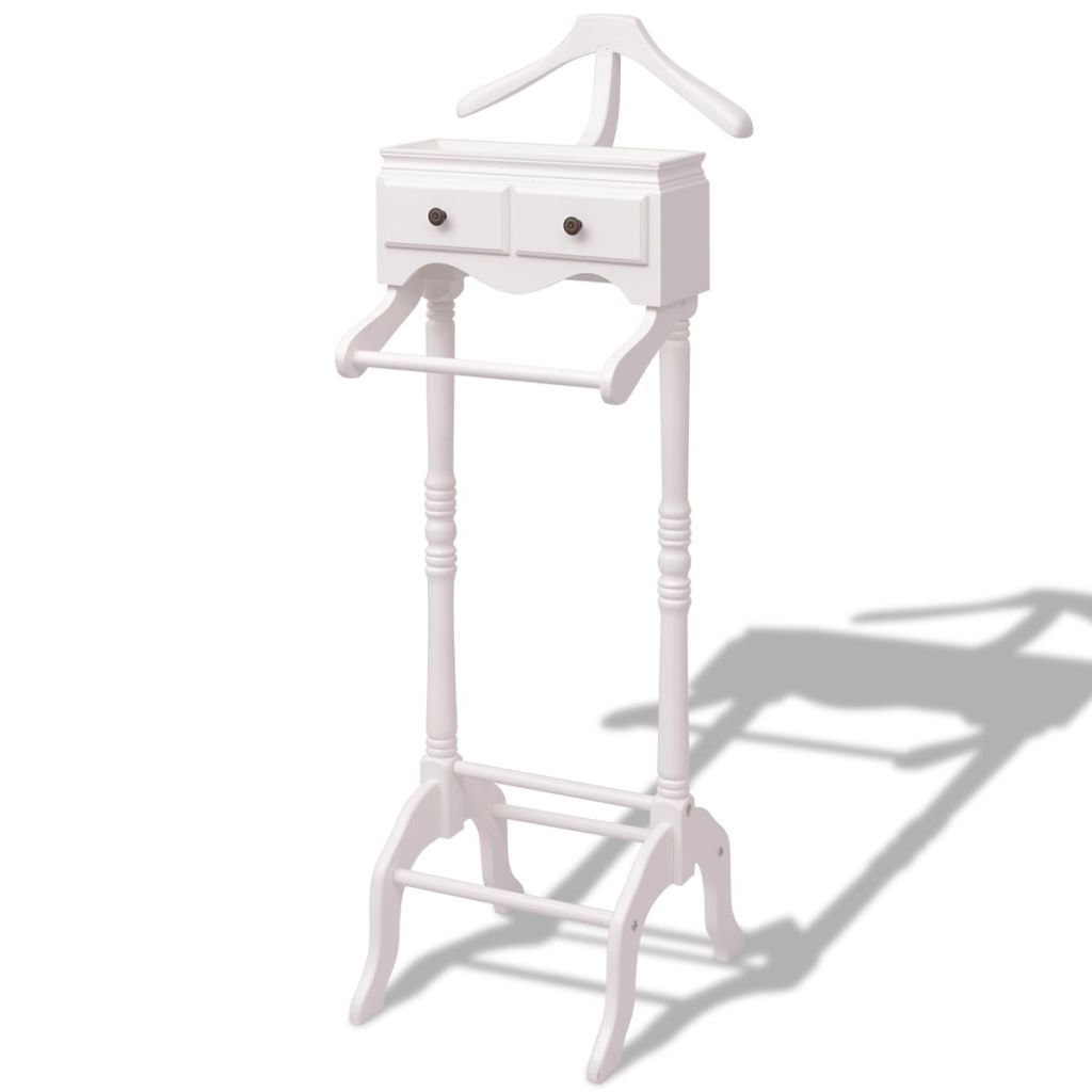 Clothing Rack with Cabinet Wood White 1