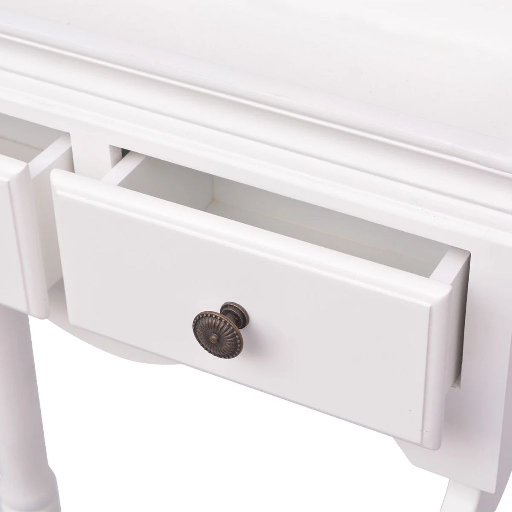 Clothing Rack with Cabinet Wood White 5