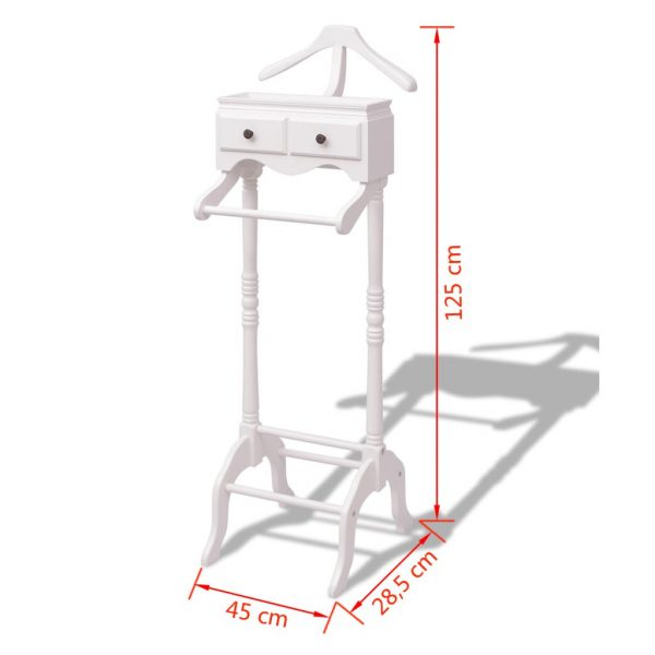 Clothing Rack with Cabinet Wood White 6
