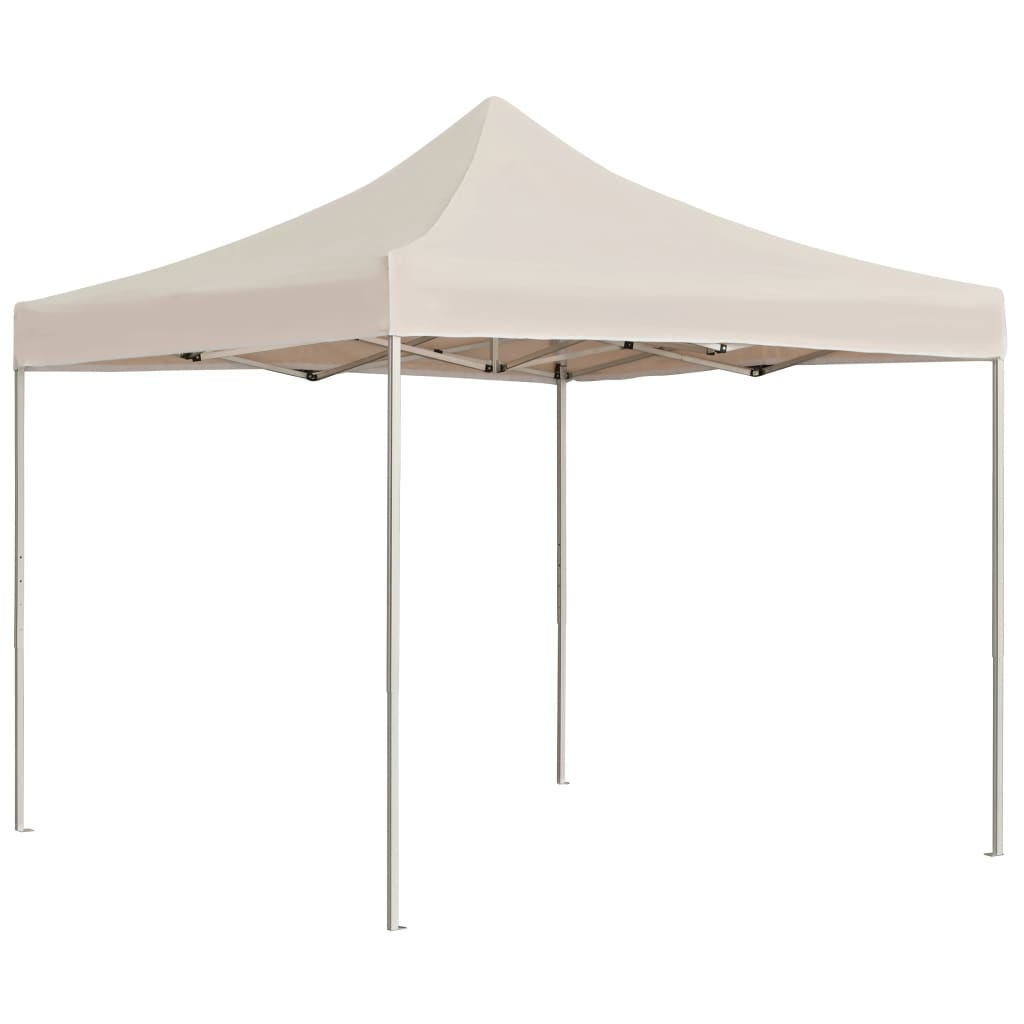 Professional Folding Party Tent Aluminium 3×3 m Cream 1
