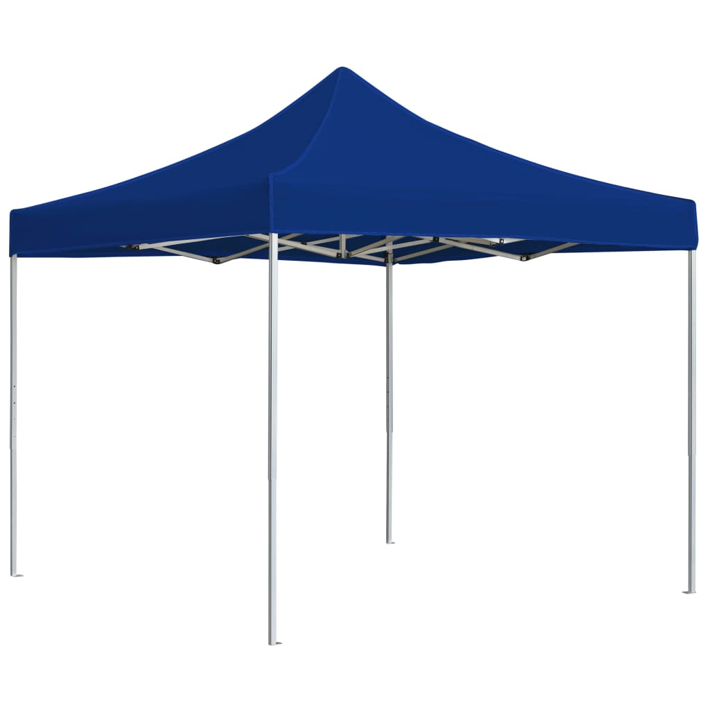 Professional Folding Party Tent Aluminium 3×3 m Blue 1