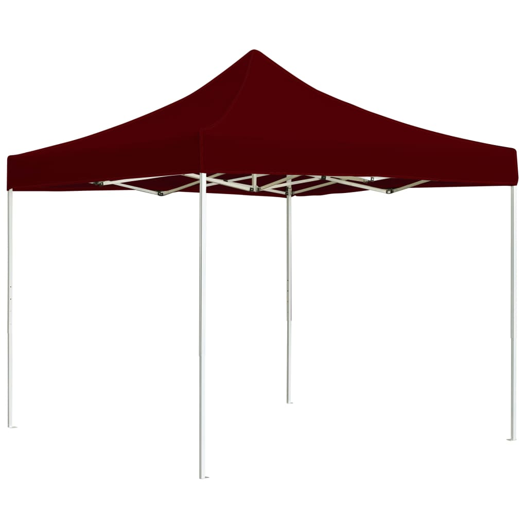 Professional Folding Party Tent Aluminium 3×3 m Wine Red 1
