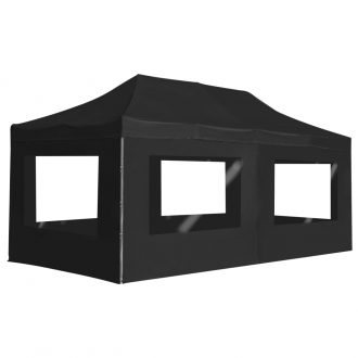 Professional Folding Party Tent with Walls Aluminium 6×3 m Anthracite 1