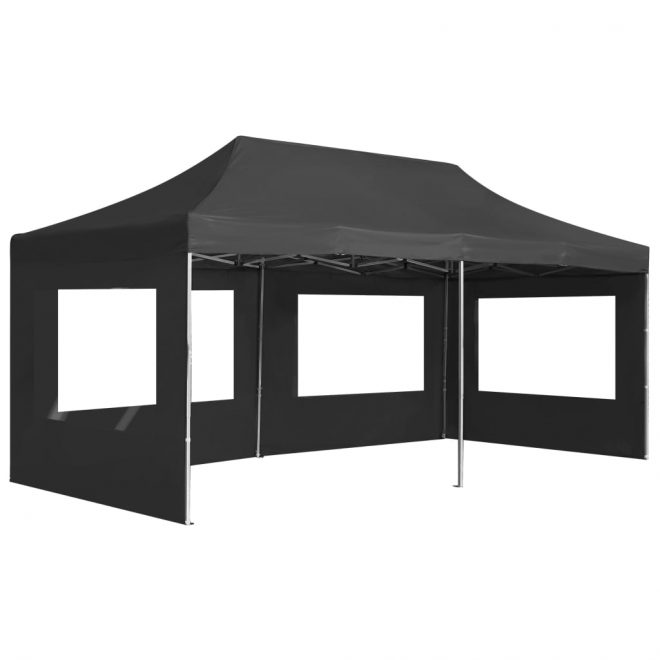 Professional Folding Party Tent with Walls Aluminium 6×3 m Anthracite 4