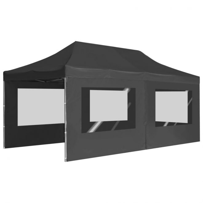 Professional Folding Party Tent with Walls Aluminium 6×3 m Anthracite 5