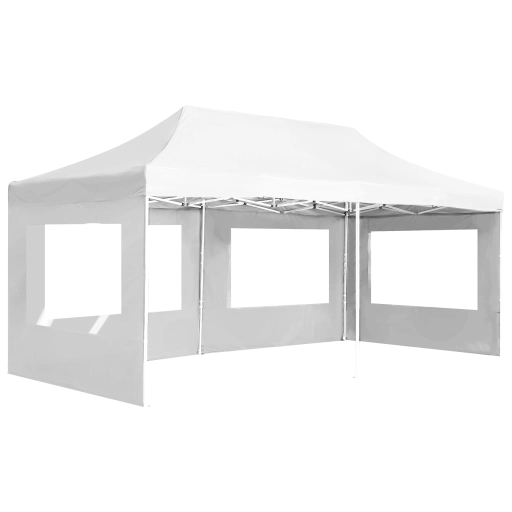 Professional Folding Party Tent with Walls Aluminium 6×3 m White 4
