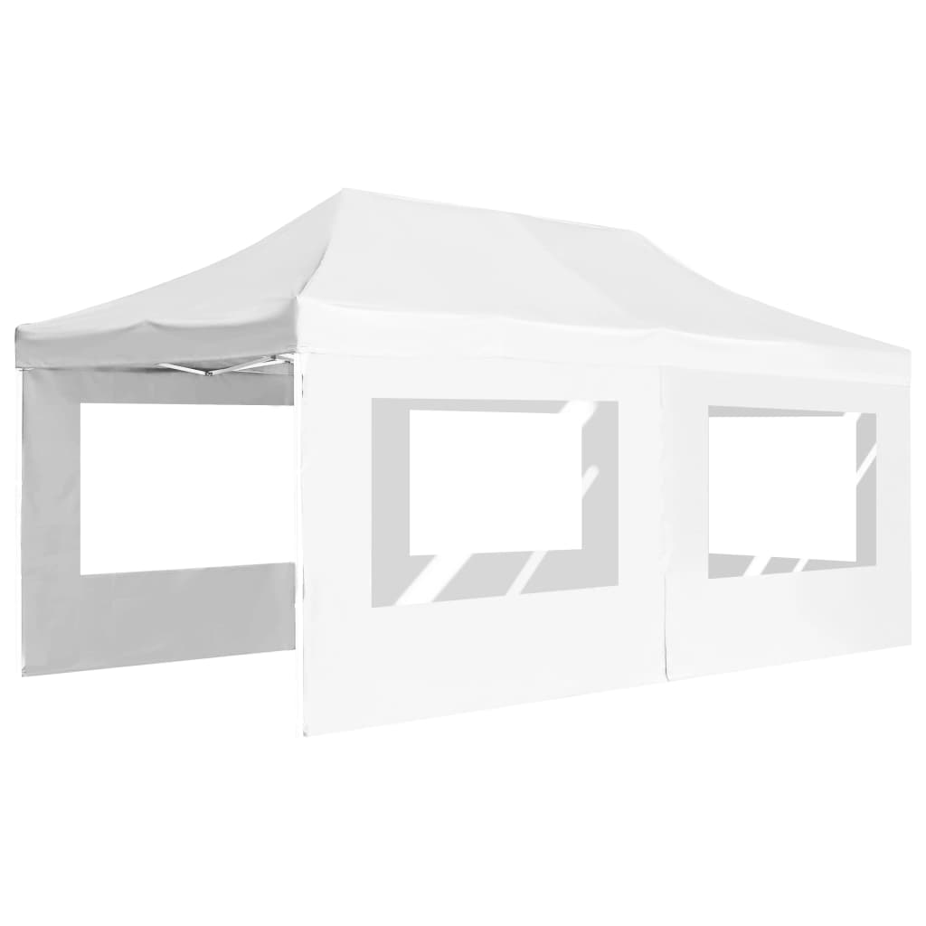 Professional Folding Party Tent with Walls Aluminium 6×3 m White 5