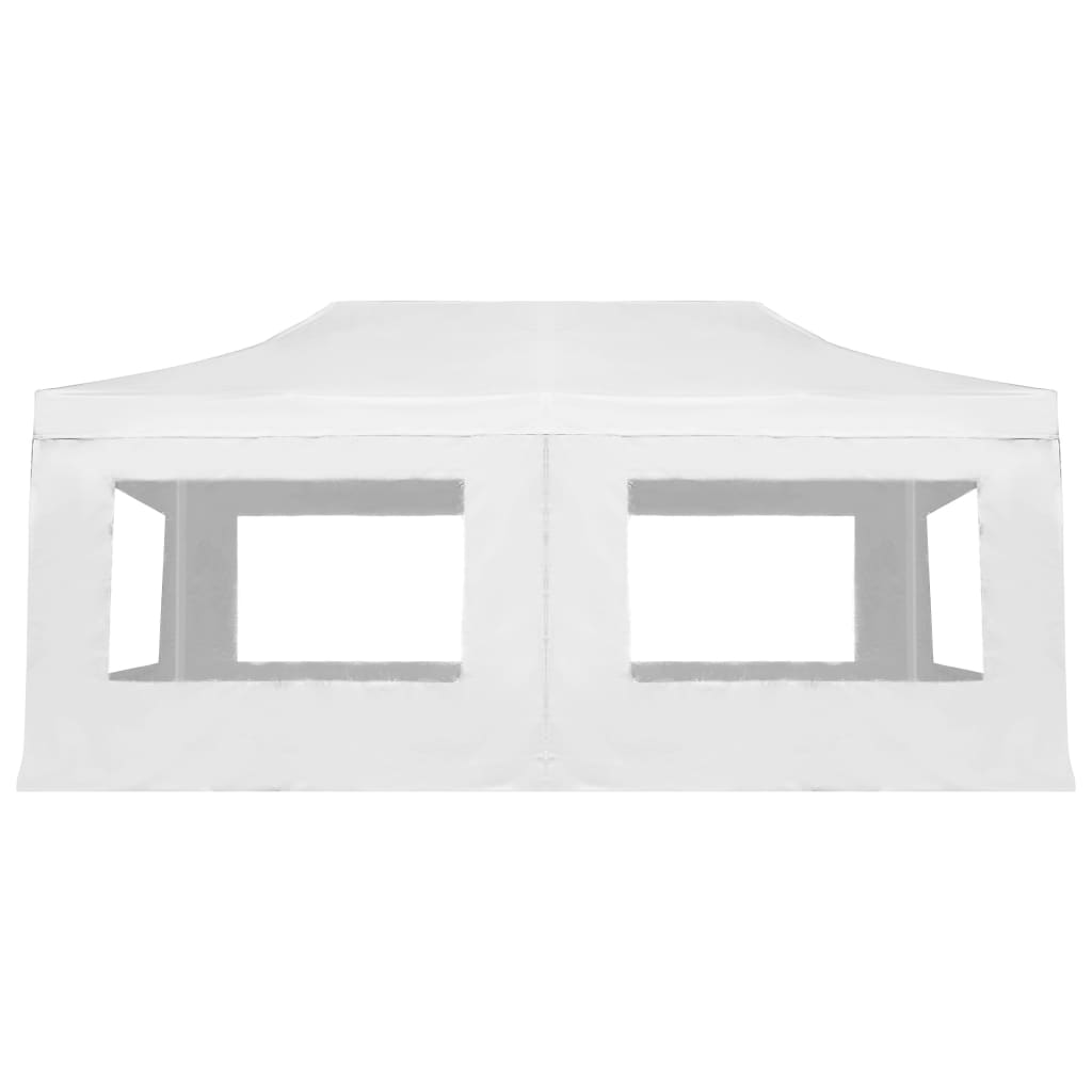 Professional Folding Party Tent with Walls Aluminium 6×3 m White 6