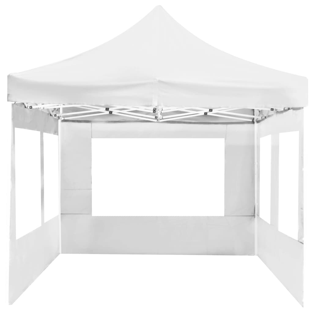 Professional Folding Party Tent with Walls Aluminium 6×3 m White 9