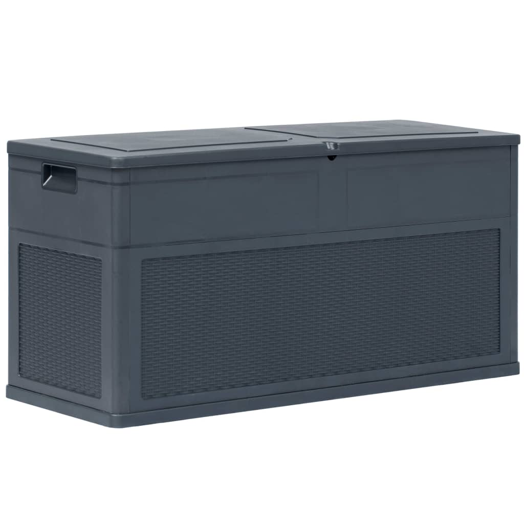 Garden Storage Box 320 L Anthracite 1