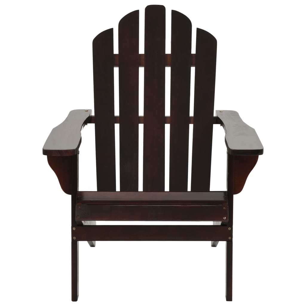 Garden Chair with Ottoman Wood Brown 6
