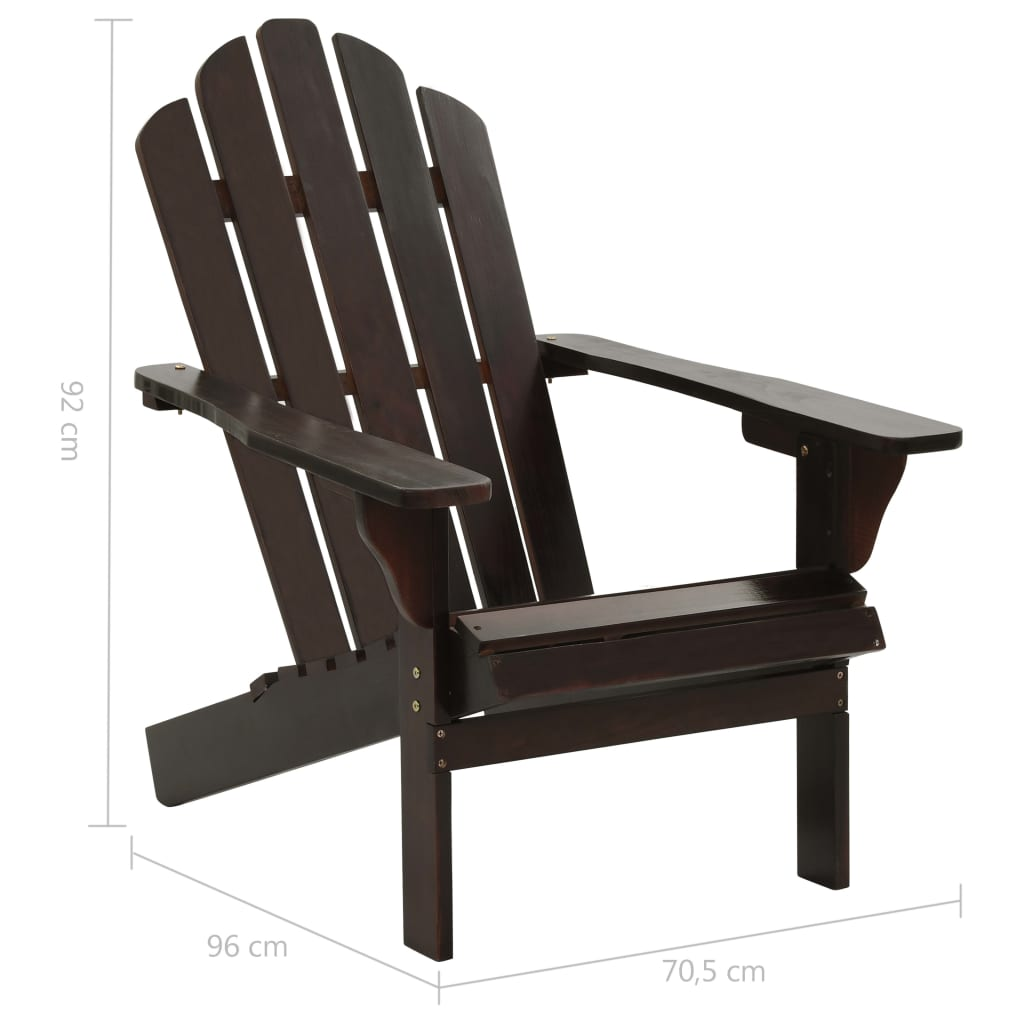 Garden Chair with Ottoman Wood Brown 9
