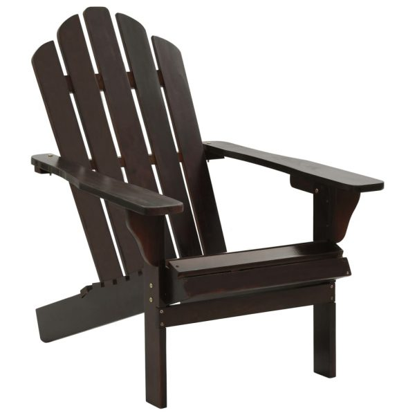 Garden Chair Wood Brown 1