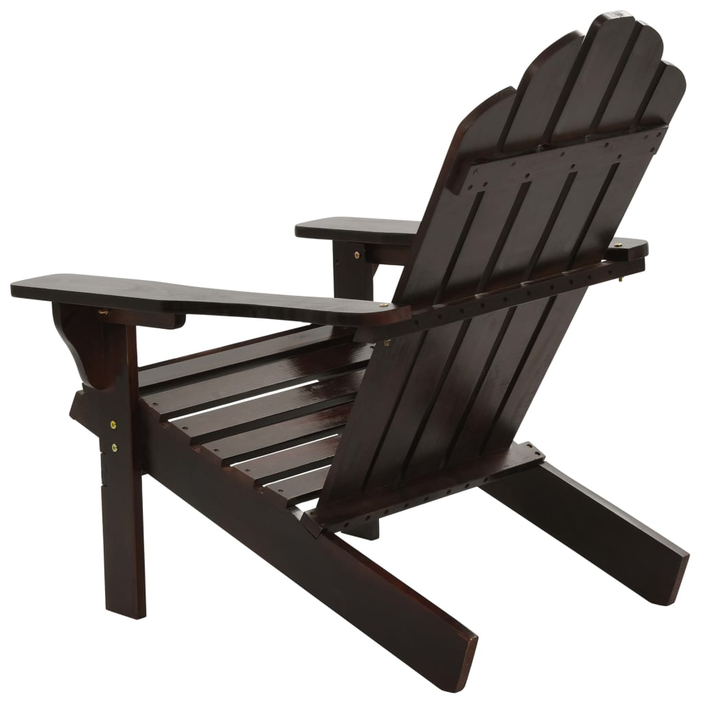Garden Chair Wood Brown 4