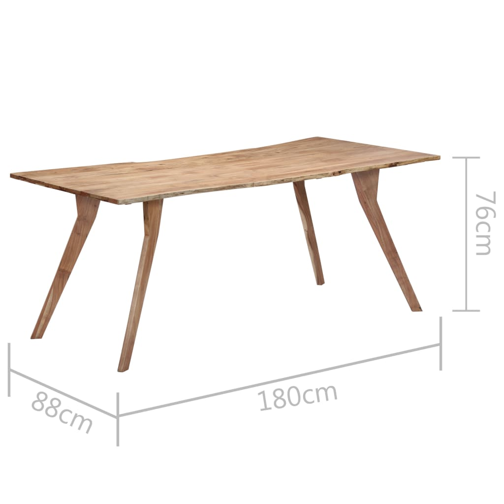 Dining Table 180x88x76 cm Solid Acacia Wood 8