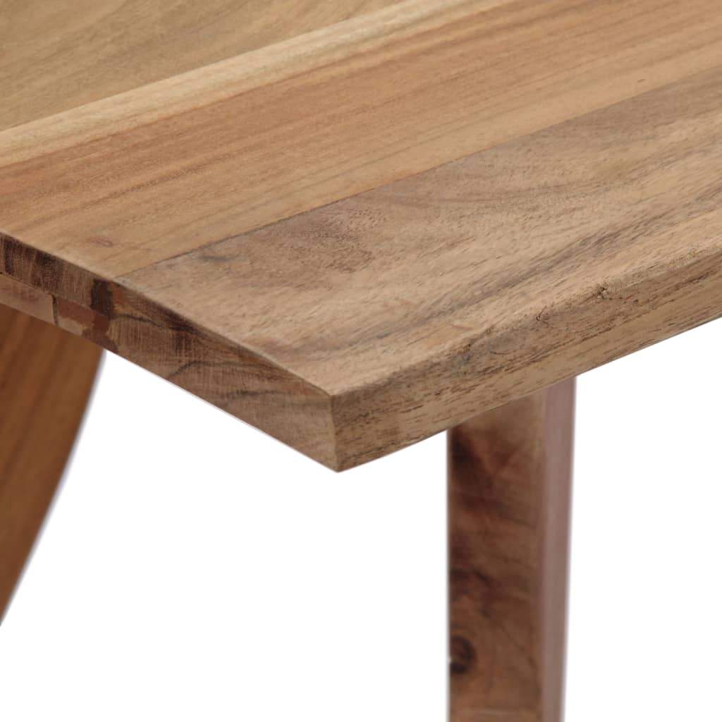 Dining Table 120x58x76 cm Solid Acacia Wood 6