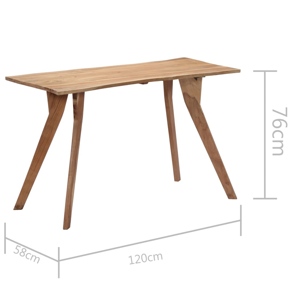 Dining Table 120x58x76 cm Solid Acacia Wood 8