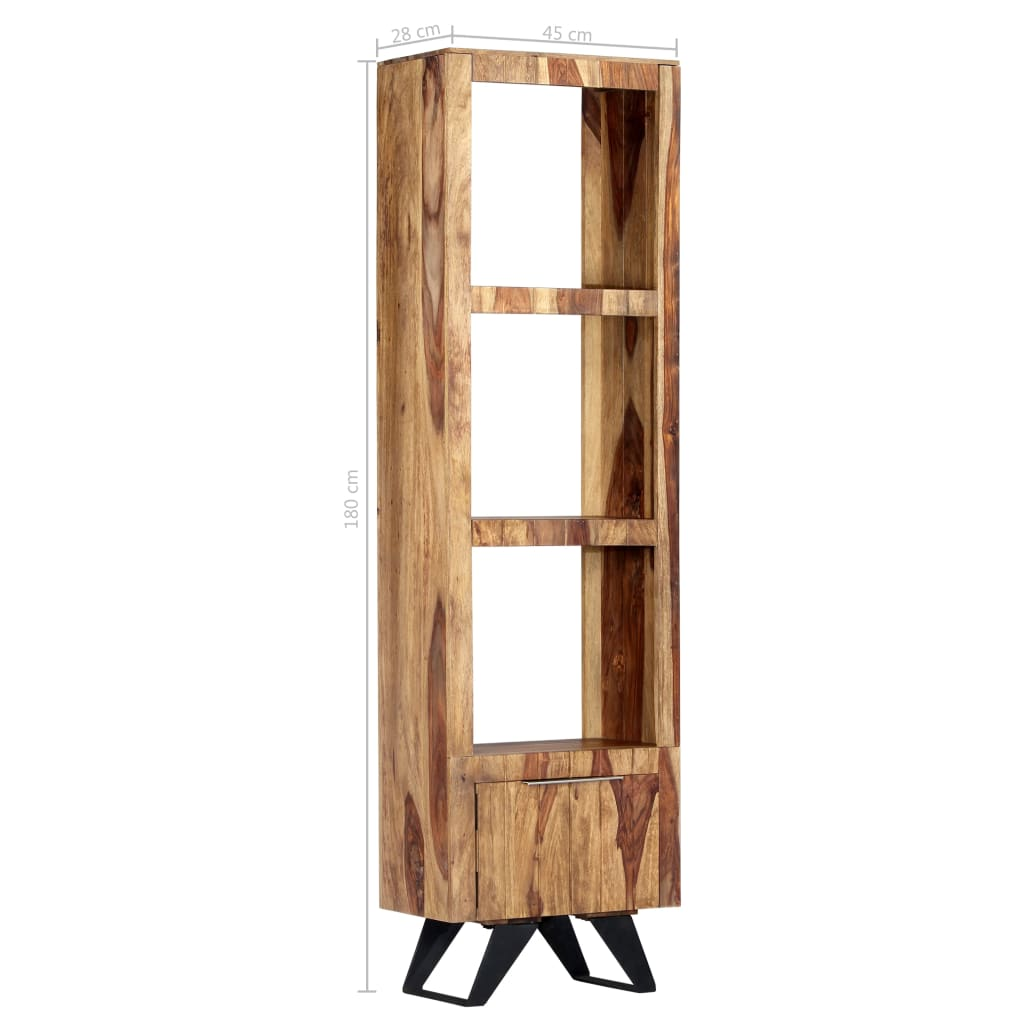 Highboard 45x28x180 cm Solid Sheesham Wood 9