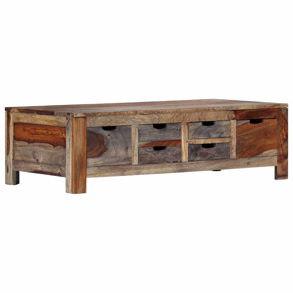 Coffee Table Grey 100x55x30 cm Solid Sheesham Wood