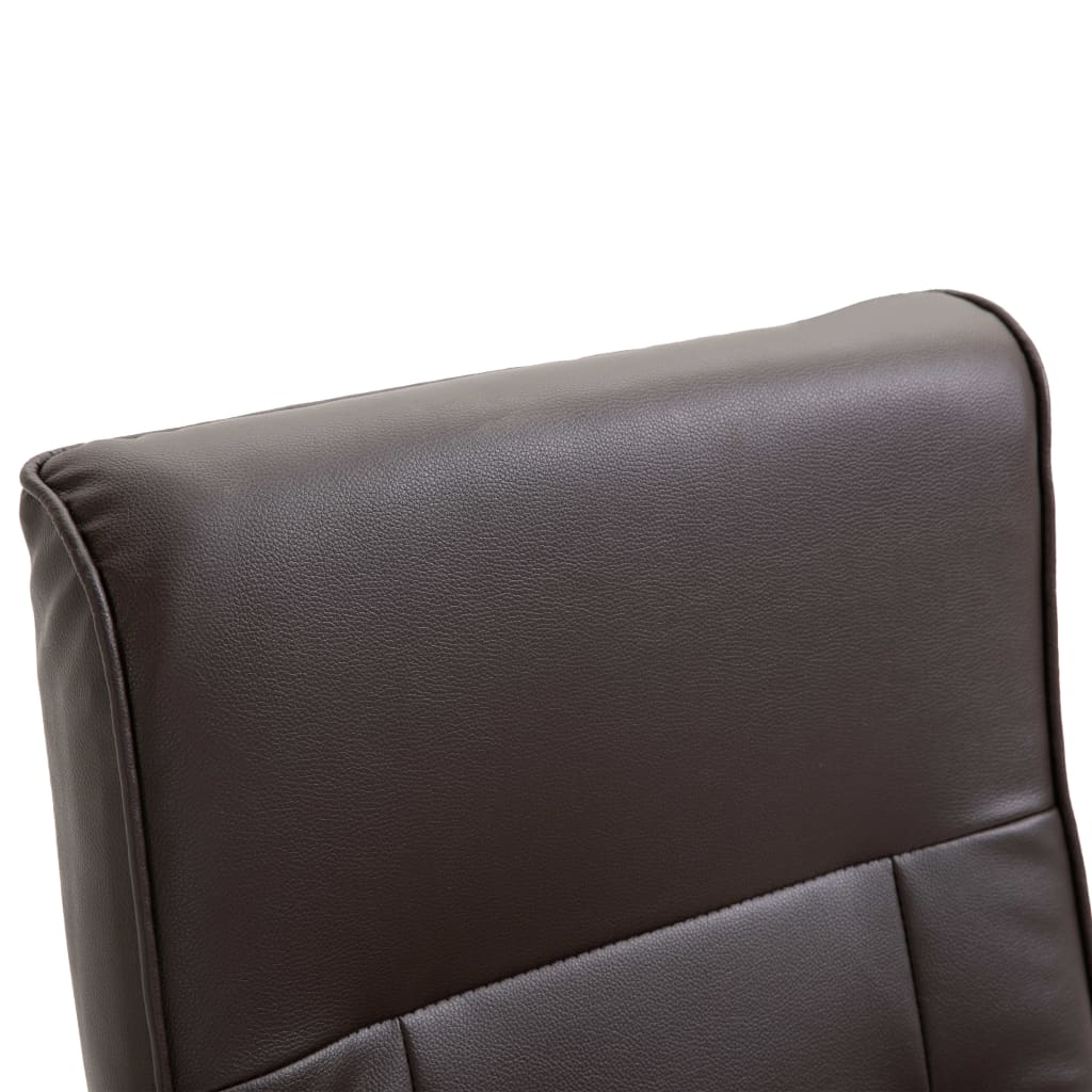 Massage Chair Brown Faux Leather 8