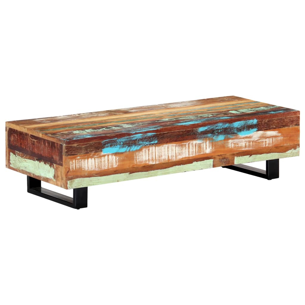 Coffee Table 120x50x30 cm Solid Reclaimed Wood and Steel
