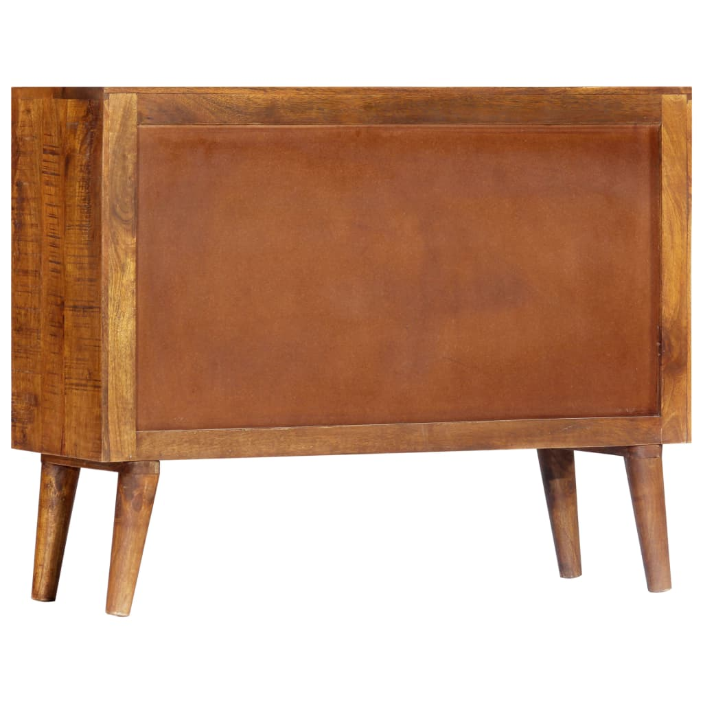 Sideboard with Printed Pattern 90x30x70 cm Solid Mango Wood 4