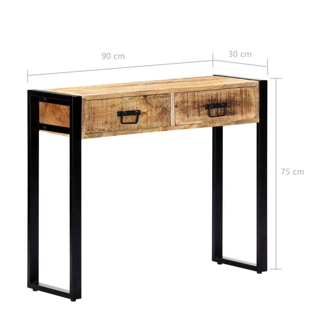 Console Table 90x30x75 cm Solid Mango Wood 7