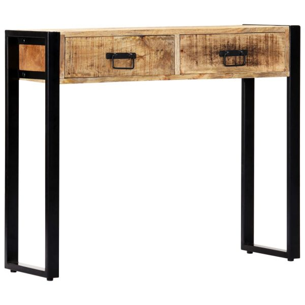 Console Table 90x30x75 cm Solid Mango Wood 9