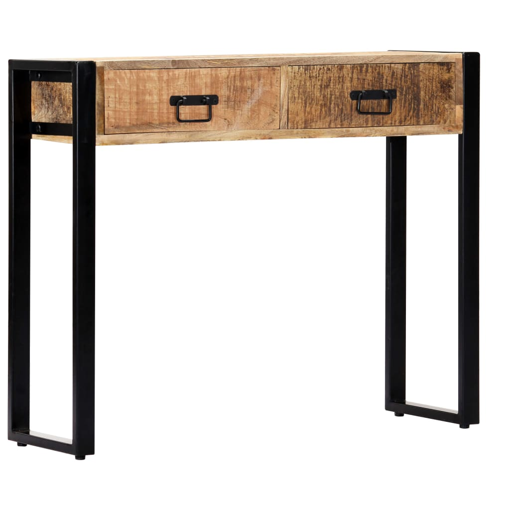 Console Table 90x30x75 cm Solid Mango Wood 10