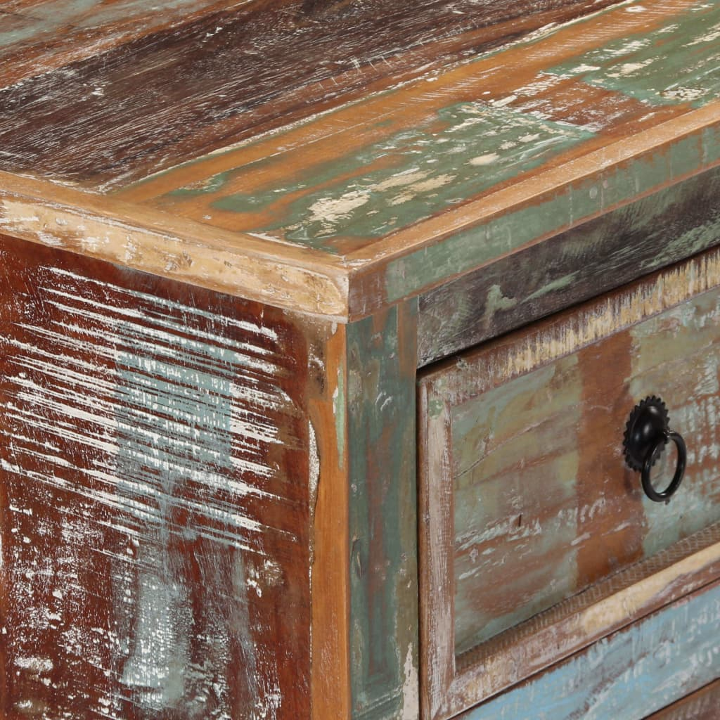 Chest of Drawers 130x40x80 cm Solid Reclaimed Wood 2
