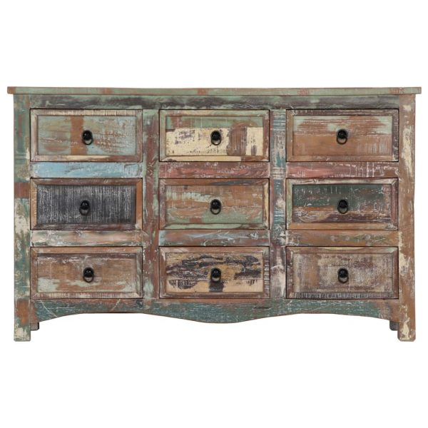 Chest of Drawers 130x40x80 cm Solid Reclaimed Wood 3