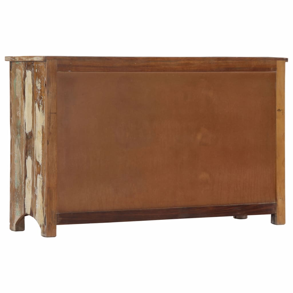 Chest of Drawers 130x40x80 cm Solid Reclaimed Wood 4