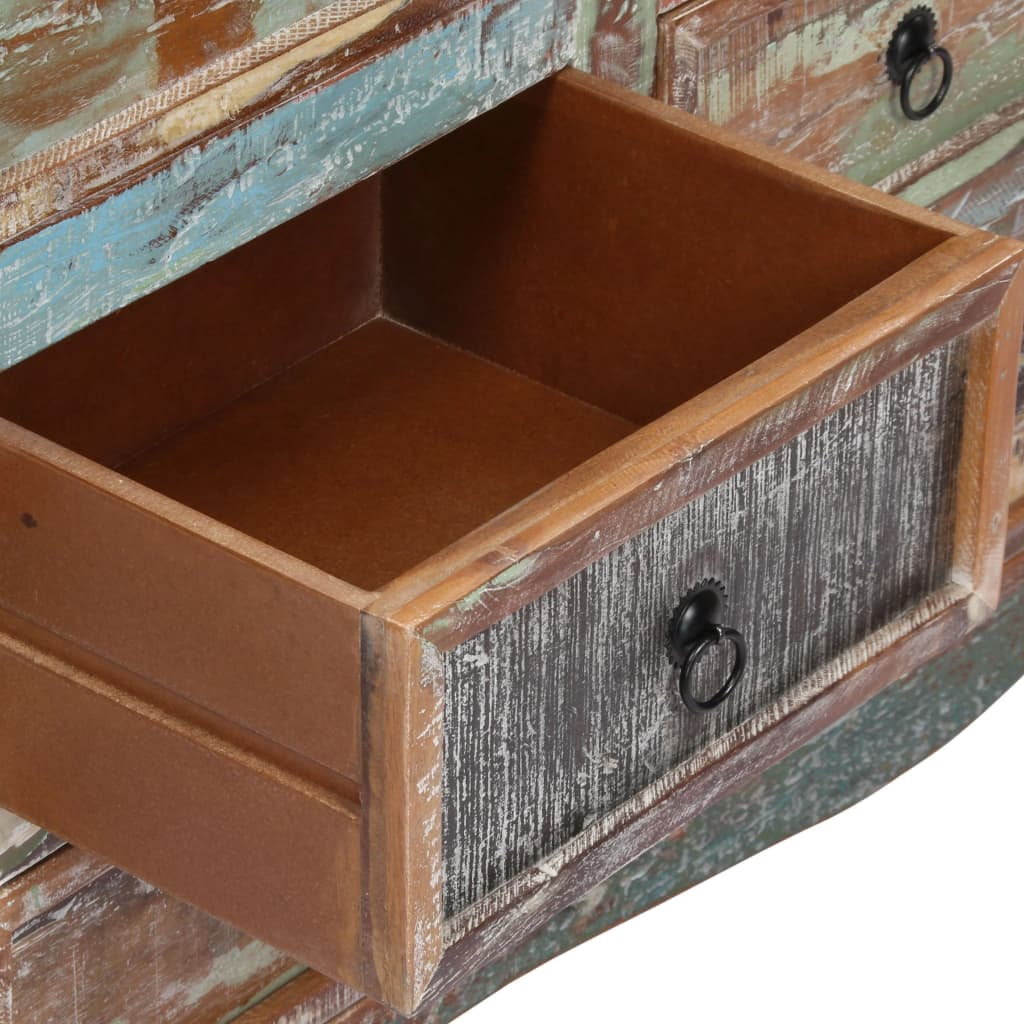 Chest of Drawers 130x40x80 cm Solid Reclaimed Wood 6