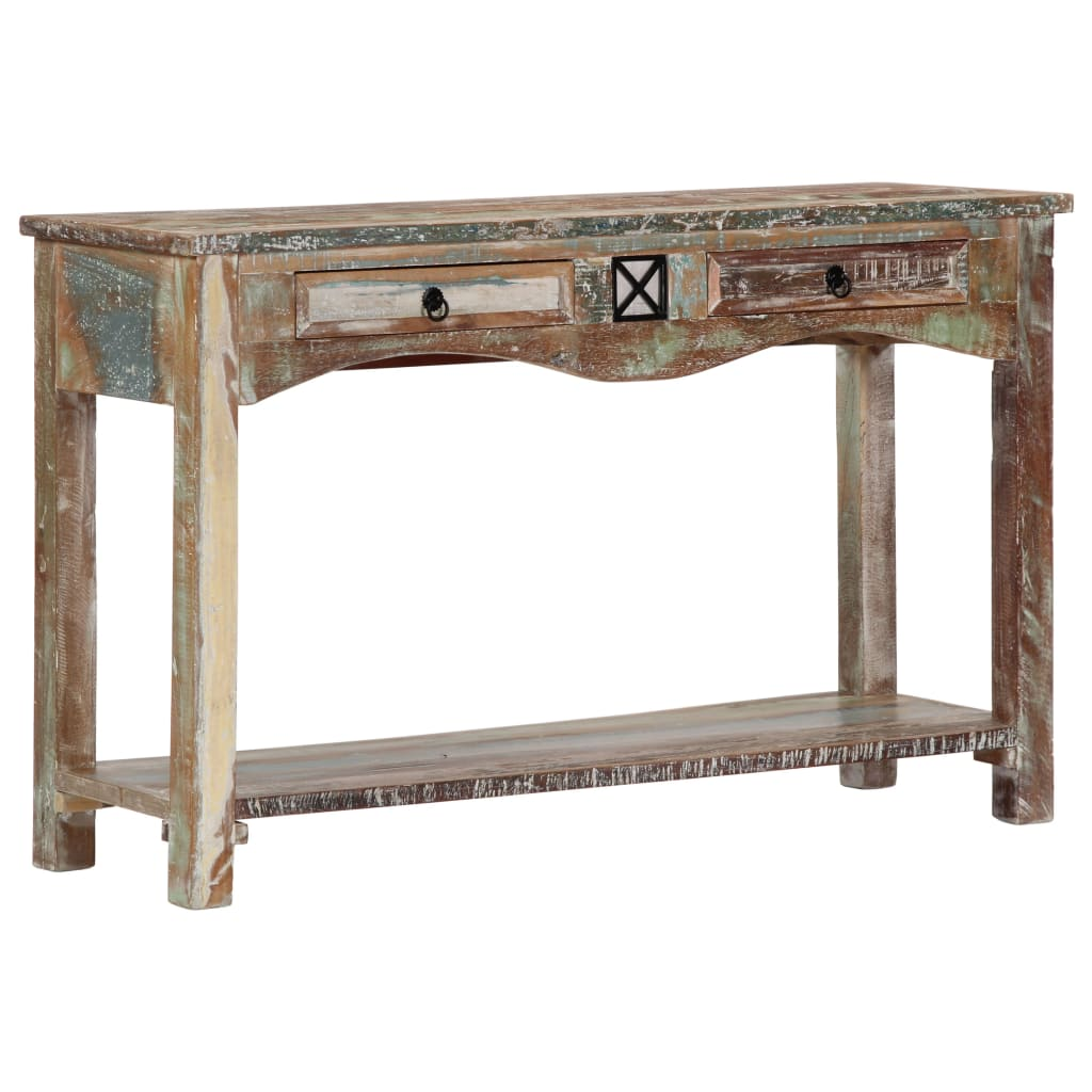 Console Table 120x40x75 cm Solid Reclaimed Wood