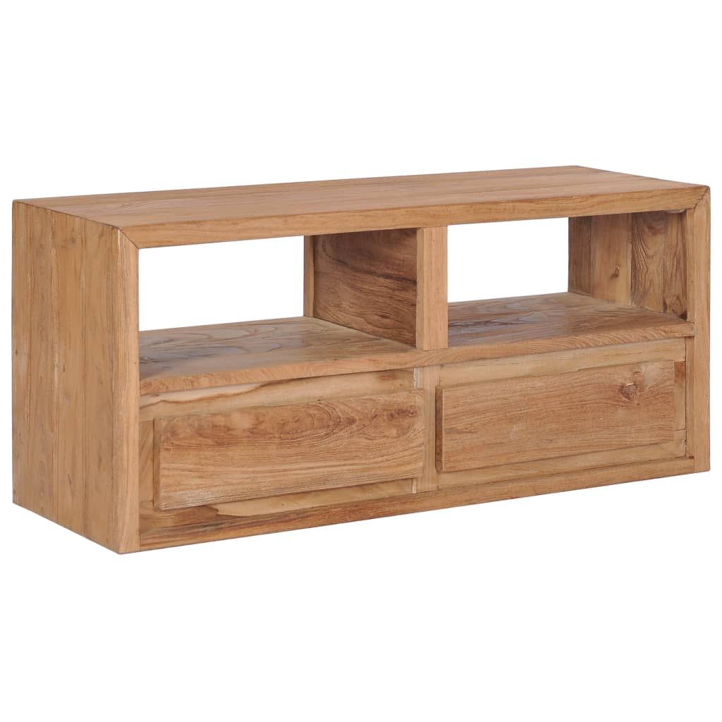 TV Cabinet 90x30x40 cm Solid Teak Wood