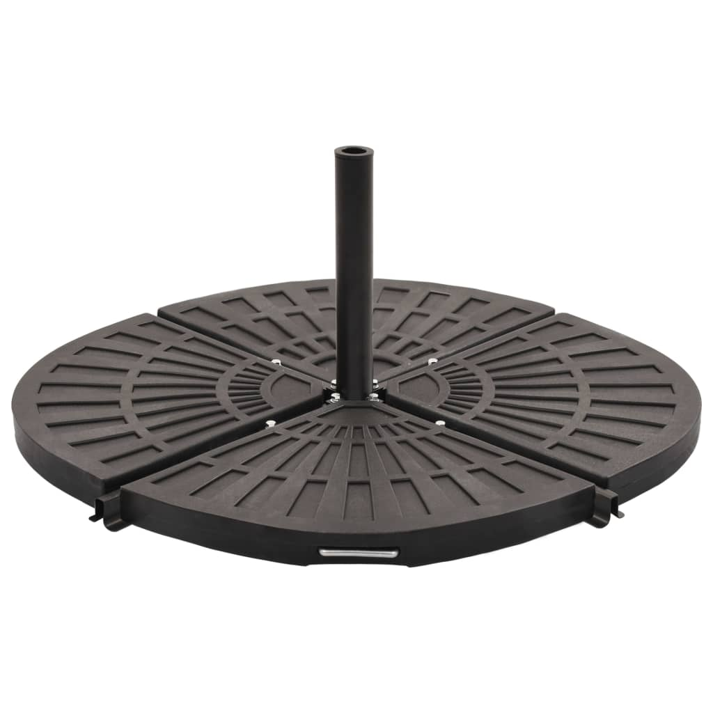 Umbrella Weight Plates 4 pcs Black Fan-shaped 80 kg