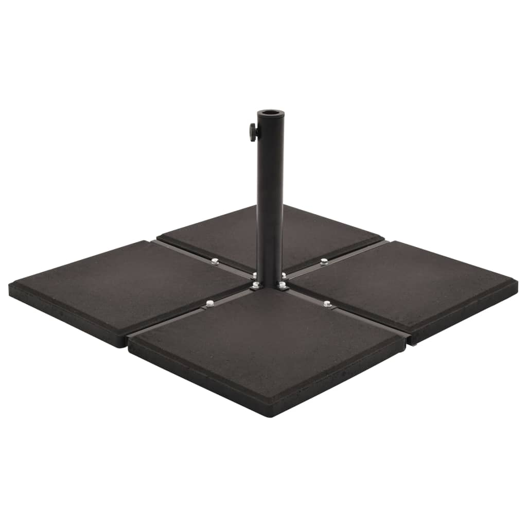 Umbrella Weight Plates 4 pcs Black Concrete Square 48 kg