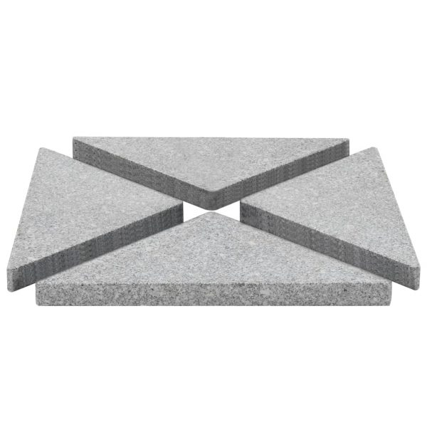 Umbrella Weight Plates 4 pcs Grey Granite Triangular 60 kg 2