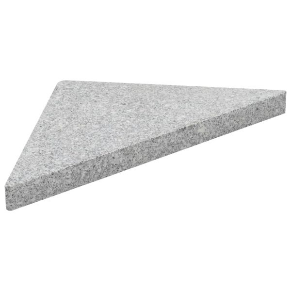 Umbrella Weight Plates 4 pcs Grey Granite Triangular 60 kg 3