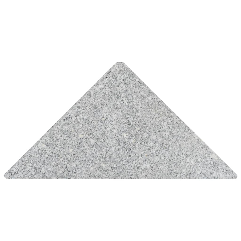 Umbrella Weight Plates 4 pcs Grey Granite Triangular 60 kg 4