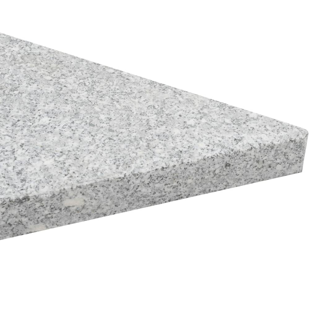 Umbrella Weight Plates 4 pcs Grey Granite Triangular 60 kg 6