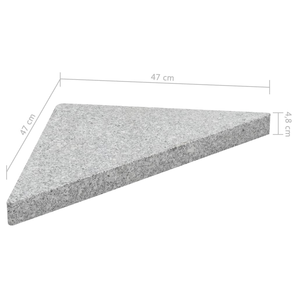 Umbrella Weight Plates 4 pcs Grey Granite Triangular 60 kg 7