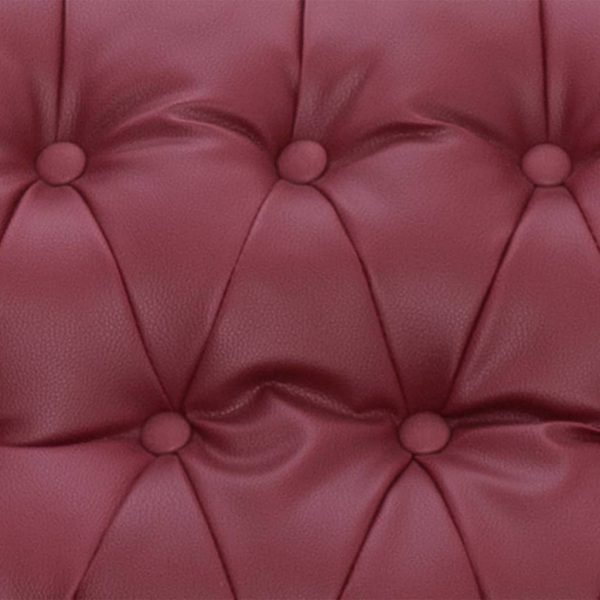 Reclining Chair Wine Red Faux Leather 4