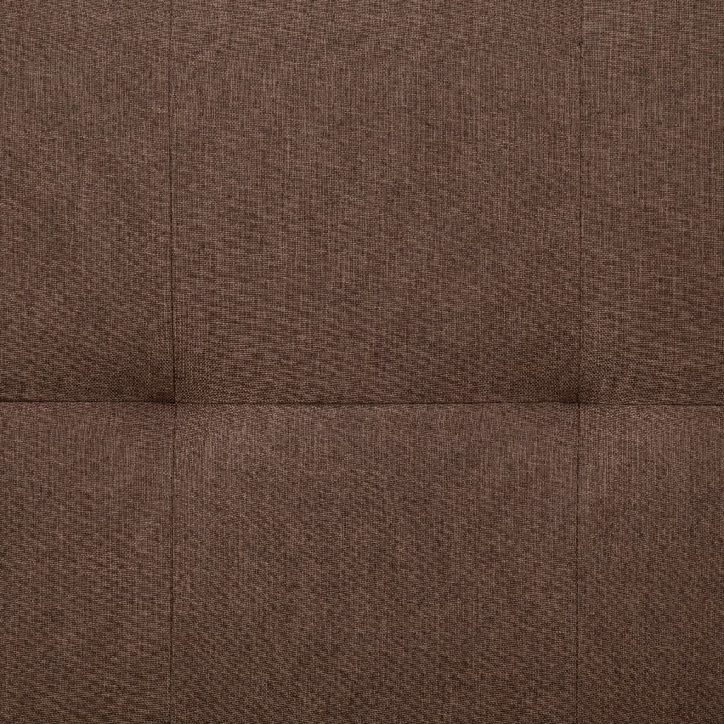 Sofa Bed with Two Pillows Brown Polyester 4