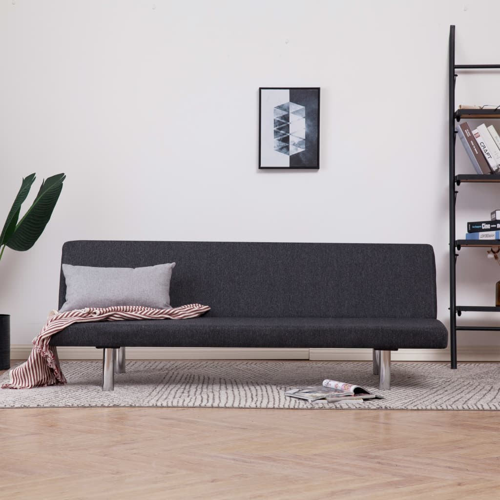 Sofa Bed Dark Grey Polyester 1
