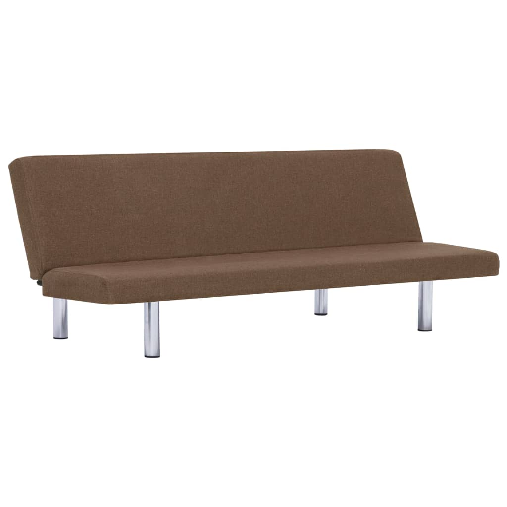 Sofa Bed Brown Polyester 2